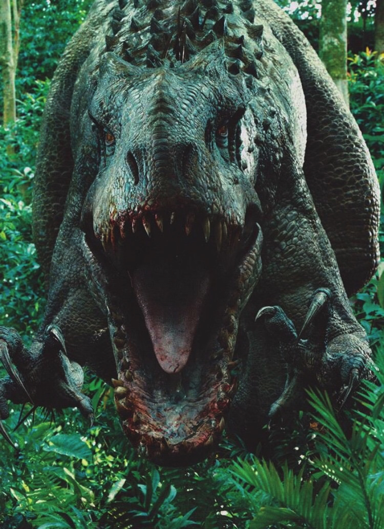 Indominus rex, insane escaped park resident.
